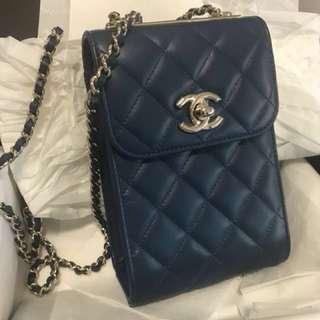 Chanel 藍色羊仔皮(18x12cm)