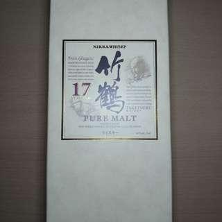 日本竹鶴17年700ML威士忌(適合白州山崎10,18,25,秩父宮城峽,余市15,20,響12,21,30年飲家)