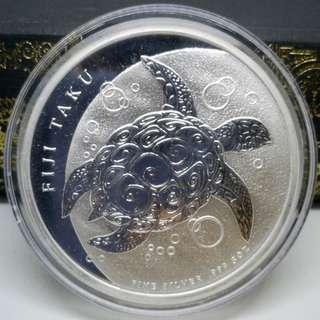 2012 Fiji 5 oz Silver $10 Taku