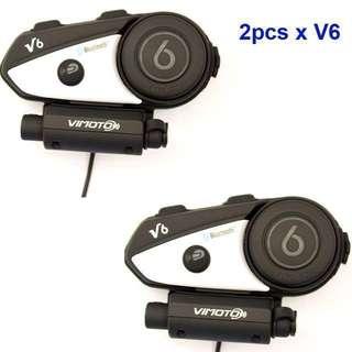 🔥 VIMOTO V6 600mAh Helmet Bluetooth Headset