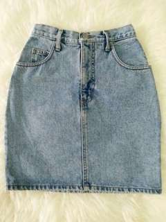 Denim Skirt Guess Original