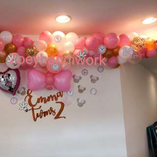 Customised balloon decoration @ zoeyhandiwork