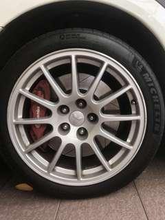Evo X Original Enkei Rims (no tyres)