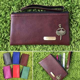 Custom Zipper Pouch Can be used as Pencil Case Classic Dark Brown FREE SHIPPING Many Colours & Charms