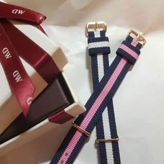 Authentic DW watch straps in rose gold