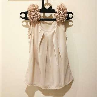 Cream flower top