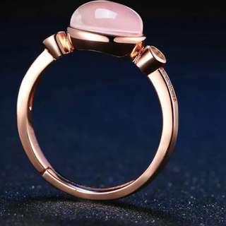 Pink Rose Gold Quartz Ring (PRE-ORDER)