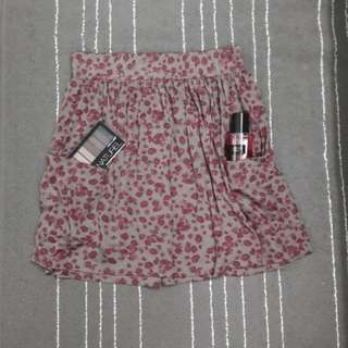 Floral skirt with pockets #Bajet20