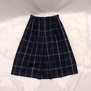Vintage 古著日本毛呢格紋裙