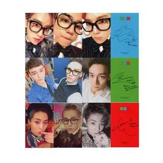 EXO CBX ALBUM UNOFFICIAL PHOTOCARDS