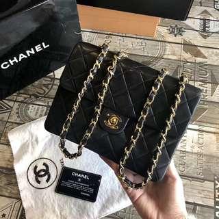 Chanel Vintage 黑色羊皮 Mini Flap 20cm