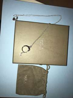 Agnes b silver necklace