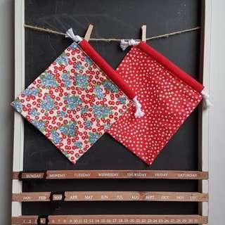 Reversible Drawstring Bag - Handmade