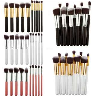 10 pcs Make up Brushes for beginners