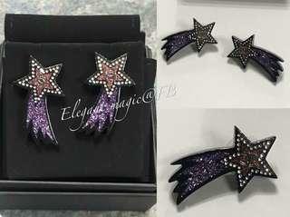 Chanel紫色水晶🌠流星耳環 已絕版