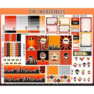 The Incredibles || Planner Sticker Kit for Erin Condren Vertical Life Planner (JUMBO KIT)