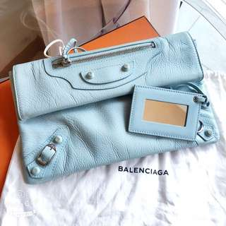 Balenciaga Tiffany Blue Clutch