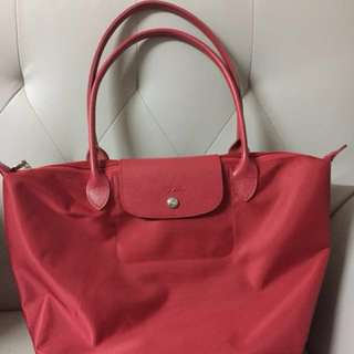 Longchamp red bag 紅色手袋 可上膊