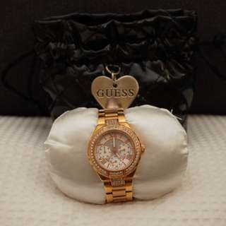 Guess Rose Gold Chronograph Watch