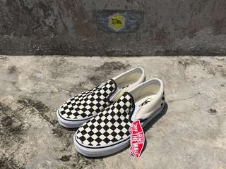 Vans slip on checkerboard bw