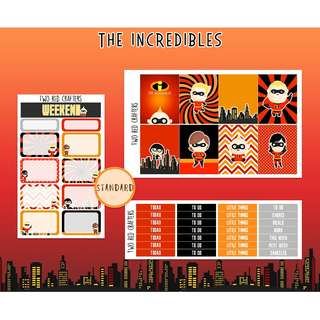 The Incredibles || Planner Sticker Kit for Erin Condren Vertical Life Planner (STANDARD KIT)