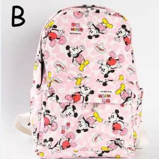 Pink Big Mickey Backpack