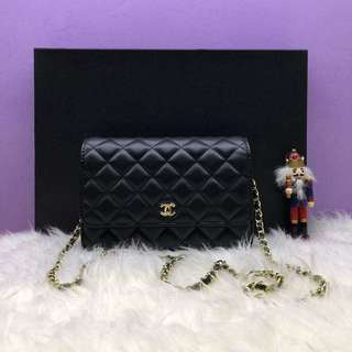 High Quality Chanel WOC with Lambskin