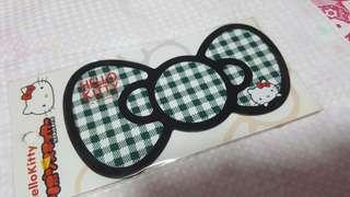 Hello Kitty Green Ribbon Bow Fridge Magnet