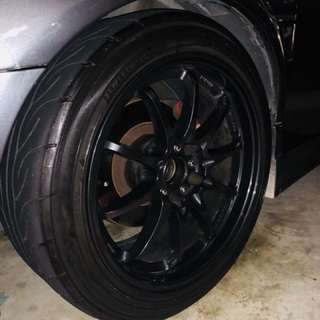 4x CE28 Rim 17inchs come with AD08 tyre