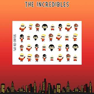 The Incredibles character stickers