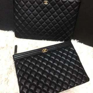 Chanel O Case Caviar Medium Size