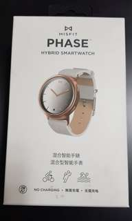 Misfit Phase - Rose Gold and White Leather ( plus misfit activity tracker pink)