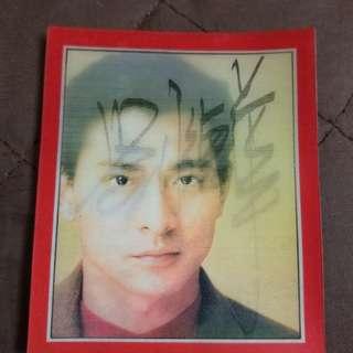 劉德華簽名卡