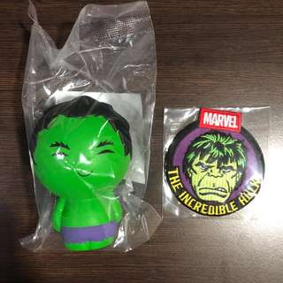 Marvel Collector Corps Hulk Patch and Squishy Brand New