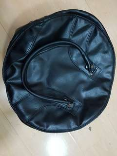 """Snare bag 14"""" x 6.5 """" padded made of leather"""