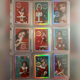 TWICE CHRISTMAS EDITION PHOTOCARDS