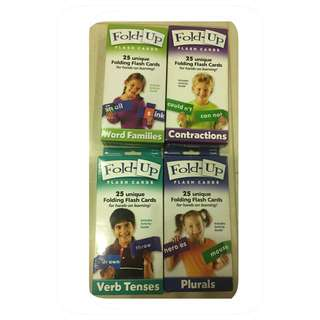 Learning Resources Fold-up Flash Cards - Word families / Contractions / Verb tenses / Plurals
