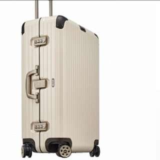 RIMOWA LIMBO 白色29吋附保護套(厚款價值2500)跟全新沒兩樣無刮