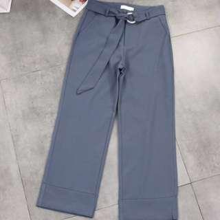 dusty blue d-ring pants