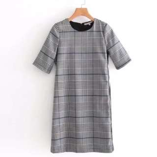 🔥Europe new plaid dress