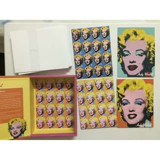 Box of 20 - Marilyn Monroe Andy Warhol Envelope Print Greeting Note Cards