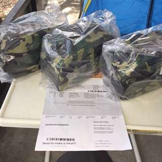 TIMBERLAND CAMO TRAVEL KIT BAT  最後一個