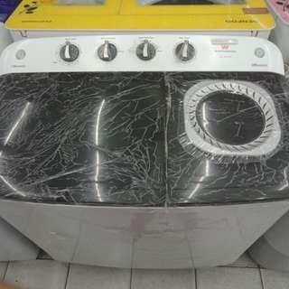 Mesin cuci electrolux 2 tabung pqling murah bisa kredit tanpa DP dan Promi tanpa BUNGA