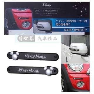 🚚 權世界@汽車用品 日本NAPOLEX Disney 米奇後視鏡/保險桿 防碰傷防撞條/片 保護片2入 WD-374