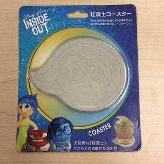 Disney Inside Out 珪藻土 杯墊 - 亞愁 Sadness