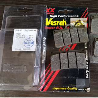 VESRAH Racing RJL XX Brake Pads for Stock R1 R1M R6 MT10 MT09