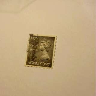 香港絕版女皇頭郵票(已用已浸)