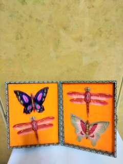 Handmade butterflies ( silk material )