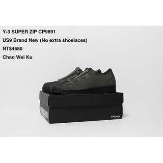 Y3 SUPER ZIP CP9891 US9 Brand New