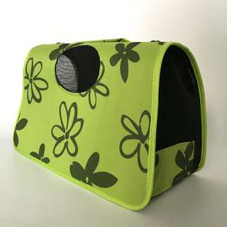 Pet Carrier Green fashion cat dog rabbit flower